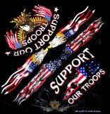 SUPPORT OUR TROOPS. JJK.  vékony nyári vászon kendő