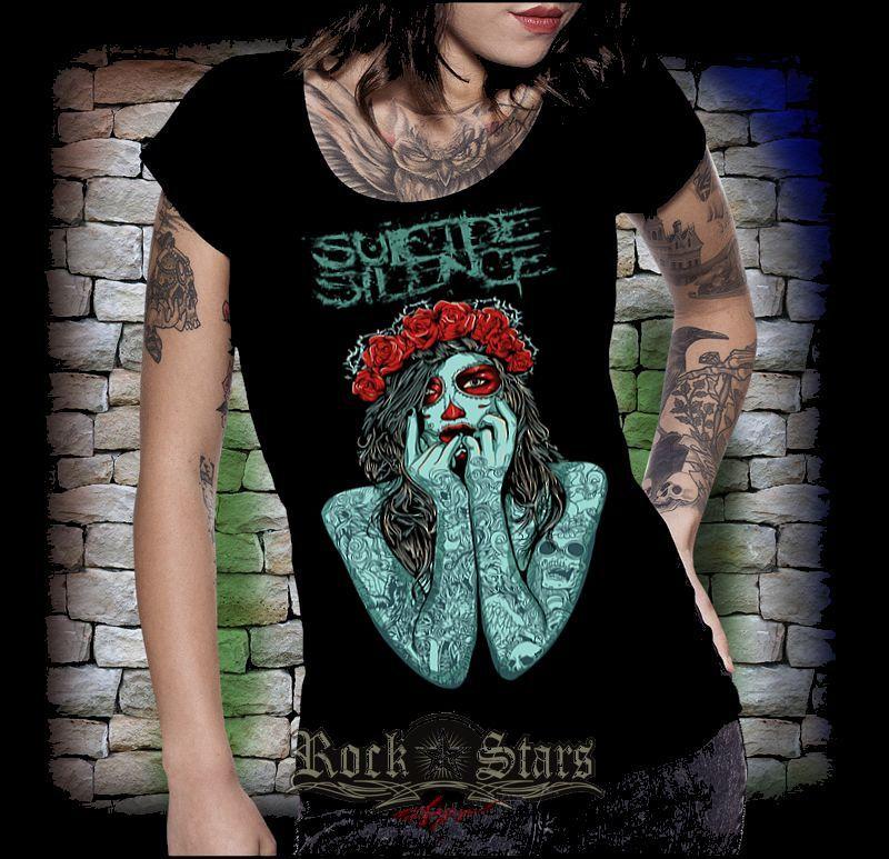 SUICIDE SILENCE - TATTOO női póló - Shark n Roll - Rock- Metal ... 8be823fb32