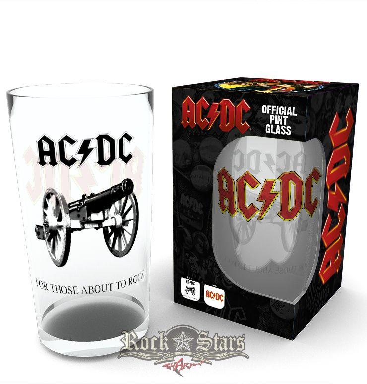 9cef4a8ad9 AC/DC - ABOUT TO ROCK. Logo (Bravado). üvegpohár - Shark n Roll ...