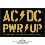 AC/DC.  Standard Patch.  PWR-UP   felvarró
