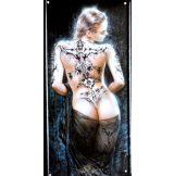 TATTOO GIRL. fém dekorációs tábla.