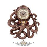 Steampunk Octopus tintahal falióra - Octoclock Steampunk Octopus Squid Wall Clock. óra
