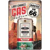ROUTE 66 - Last chance Gas station.  fém képeslap