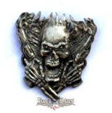 Skull & guns 2,  fém motoros jelvény