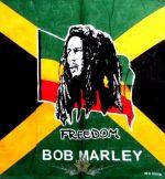 BOB MARLEY - FREEDOM. JJK.  vékony nyári vászon kendő