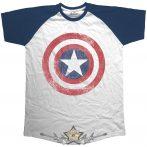 Captain America - Avengers Assemble Distressed Shield.  filmes, movie  póló