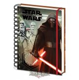 Star Wars Episode VII -  Kylo Ren & Troopers. A5 Notebook.   napló, notesz