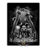 David Gonzales -  Day of the Dead Rockabilly Skull Last Dance Sign Tin. 30x40.cm. fém tábla kép