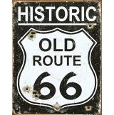 Route 66 - OLD ROUTE. Weathered Tin Sign.  20X30.cm. fém tábla kép