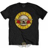 Guns N Roses - Classic Logo Mens Black T Shirt. zenekaros póló