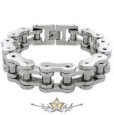 BIKERS - Motorcycle Chain Bracelet - . 12.mm. JVP. chrom  karkötő