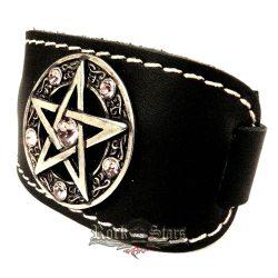 Pentagram karkötő Swarovski kristályokkal  csuklószoritó  karkötő, csuklópánt