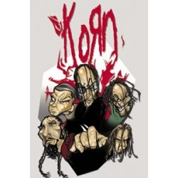 KORN-CARTOON HEADS  hűtőmágnes
