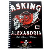 ASKING ALEXANDRIA  -  Logo A5 Wiro Notebook.   napló, notesz