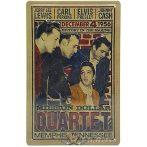 Million Dollar Quartet Poster Elvis Presley.  20X30.cm. fém tábla kép