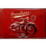 BIKER - TRASHERS.  20X30.cm. fém tábla kép