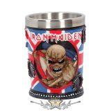 Iron Maiden - Eddie The Trooper Shot Glass.  Officially Licensed Merchandise 7.5cm.. Előrendelhető !