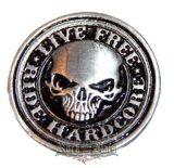 Live Free Ride Hardcore.  fém motoros jelvény