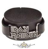IRON MAIDEN - Logo - bőr csuklószorító.   karkötő, csuklópánt