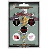 MOTLEY CRUE - DR FEELGOOD Button Badge Pack.  jelvényszett