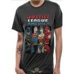 JUSTICE LEAGUE - LINE UP T-Shirt CHARCOAL.  filmes  póló