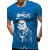 AVENGERS - INFINITY WAR - THANOS LINE LOGO.   Marvel Comics.   filmes, movie  póló