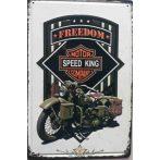BIKER - Harley-Davidson - Speed King embossed metal sign.  20X30.cm. fém tábla kép