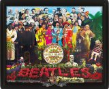3D. The Beatles - Sgt. Peppers 3d.  3 dimenzios keretezett kép