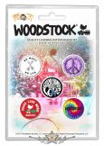 Woodstock -  'Surround Yourself With Love' Button Badge Pack.   jelvényszett