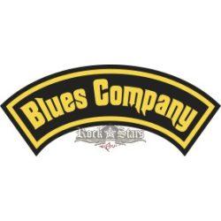 BLUES COMPANY - LOGO hímzett hátfelvarró