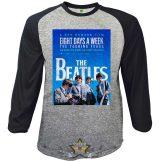 The Beatles - Unisex Raglan T-Shirt - 8 Days a Week Movie Poster  zenekaros  póló.