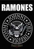 RAMONES - Seal logo. TEXTILE POSTER. zenekaros zászló