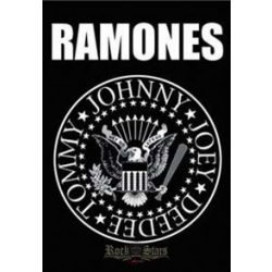 RAMONES - Seal logo. TEXTILE POSTER. zenekaros zászló - Shark n Roll ... d87d34c2cf