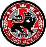 FIVE FINGER DEATH PUNCH - LEGIONARY SEAL LOGO.  hátfelvarró