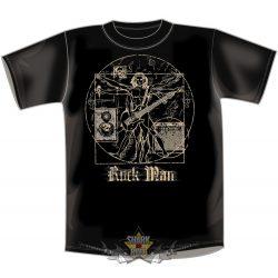 GITÁR MAN - ROCK MAN  BLACK ... vicces, poen póló