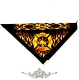 Háromszög formájú  kendő.- Fire Dept.    vászon kendő