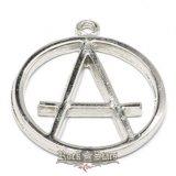 Anarchy logo.  M0042   nyaklánc, medál