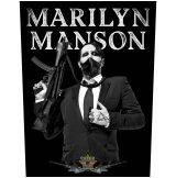 Marilyn Manson - Machine Gun. Back Patch.  hátfelvarró