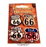 ROUTE 66 - 4 db. szett,  USA.  premium felvarró.