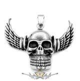 Wings skull - Biker freedom.    nyaklánc, medál
