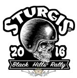 Sturgis Motorcycle Rally - Skull Racer Patch. USA.  felvarró
