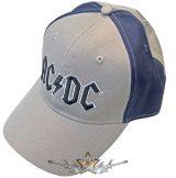 AC/DC - Unisex Baseball Cap.  Black Logo (2 Tone) sötétkék oldal betét.   baseball sapka