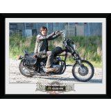 THE WALKING DEAD - Daryl Bike üveg keretes plakát . keretezett kép. 30 x 40 Collector Print
