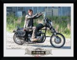 THE WALKING DEAD - Daryl Bike üveg keretes plakát . keretezett kép. 30 x 40 Collector Print