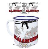 Kalasnyikov World Tour.  zománcozott retro fém bögre