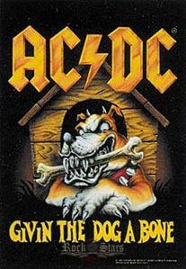 dd316fc8a7 AC/DC - Give the dog abone TEXTILE POSTER. zenekaros zászló - Shark ...