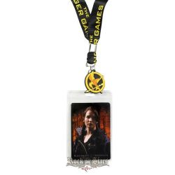 Az éhezõk viadala -  The Hunger Games.  Girl on Fire - Katniss Lanyard.    stage pass - kulcstartó