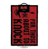 AC/DC - For Those About To Knock. DOORMAT. lábtörlő