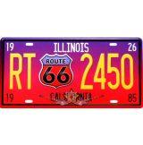 ROUTE 66 - ILLIONIS - CALIFORNIA. fém dekorációs tábla.