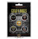 Guns N Roses -  'Bullet Logo' Button Badge Pack.   jelvényszett